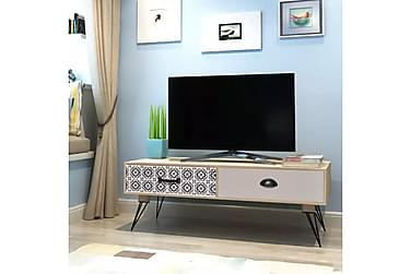 TV-bänk100x40x35 cm Brun