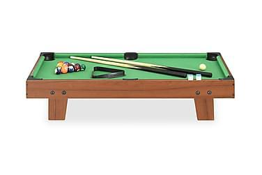 Biljardbord mini 3 feet 92x52x19 cm brun och grön