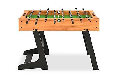 Fotbollsbord hopfällbart 121x61x80 cm ljusbrun