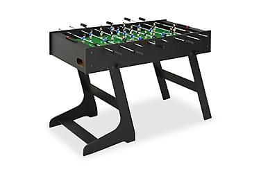 Fotbollsbord hopfällbart 121x61x80 cm svart