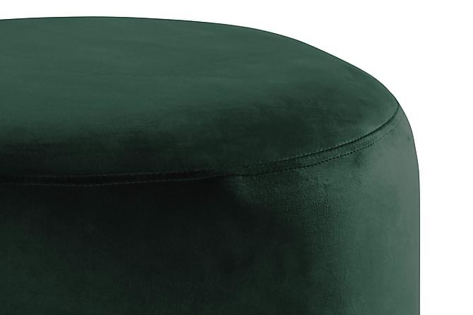 Sittpuff Donella 100 cm Sammet - Mörkgrön - Möbler - Fåtöljer & fotpallar - Fotpall