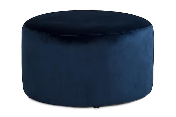 Sittpuff Donella 65 cm Sammet - Blå - Möbler - Fåtöljer & fotpallar - Fotpall