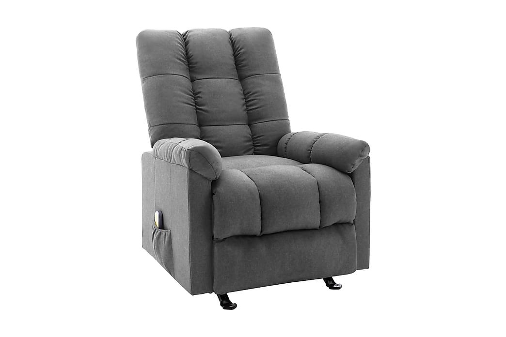 Massagefåtölj ljusgrå tyg - Möbler - Fåtöljer & fotpallar - Massagestol & massagefåtölj