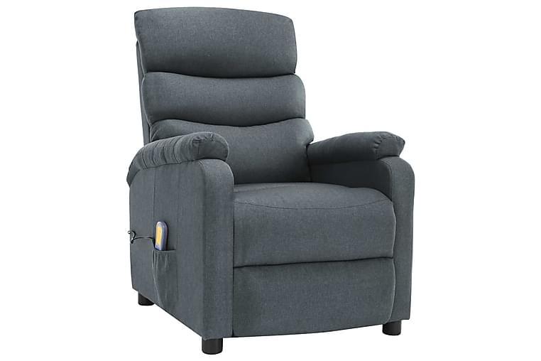 Massagefåtölj ljusgrå tyg - Grå - Möbler - Fåtöljer & fotpallar - Massagestol & massagefåtölj