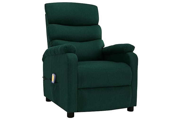 Massagefåtölj mörkgrön tyg - Grön - Möbler - Fåtöljer & fotpallar - Massagestol & massagefåtölj
