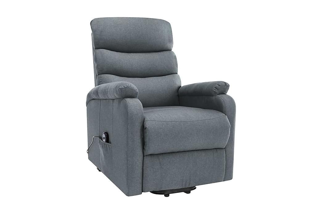 Massagefåtölj med uppresningshjälp ljusgrå tyg - Grå - Möbler - Fåtöljer & fotpallar - Massagestol & massagefåtölj