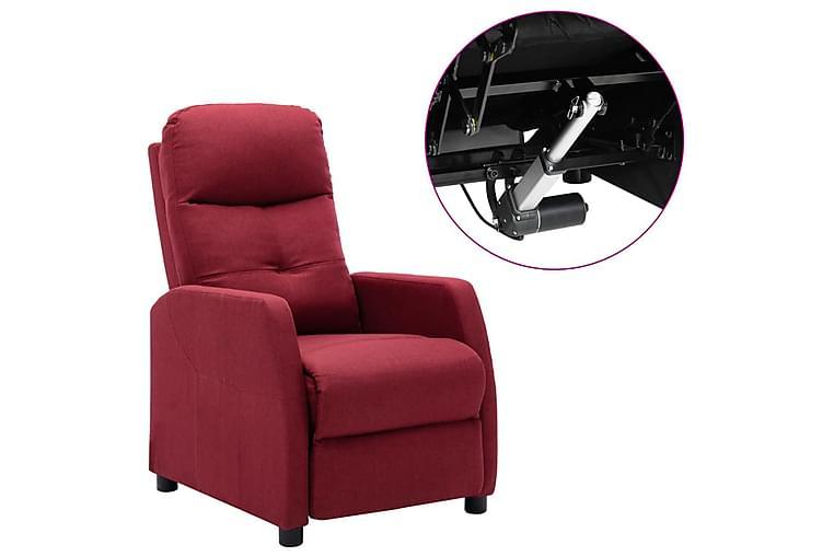 Elektrisk reclinerfåtölj vinröd tyg - Röd - Möbler - Fåtöljer & fotpallar - Reclinerfåtölj