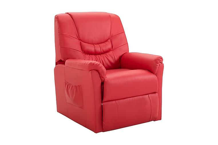 Fällbar fåtölj röd konstläder - Röd - Möbler - Fåtöljer & fotpallar - Reclinerfåtölj