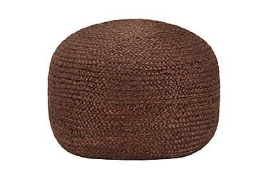 Handgjord sittpuff brun 40x45 cm jute