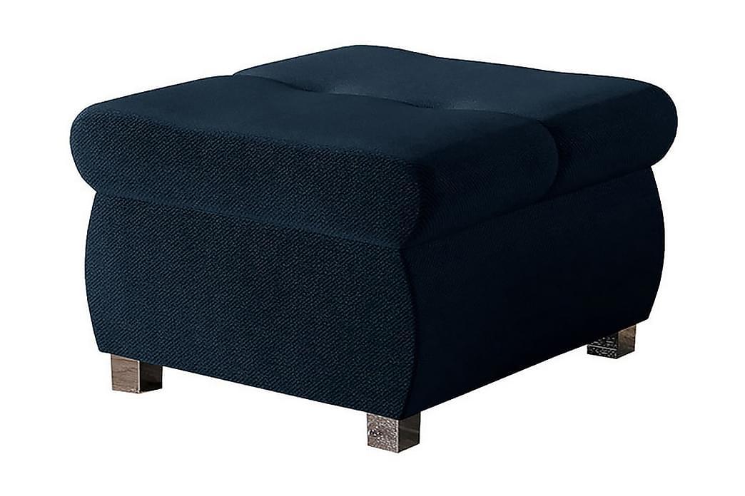 Puff Ianto - Blå/Vit - Möbler - Fåtöljer & fotpallar - Sittpuff