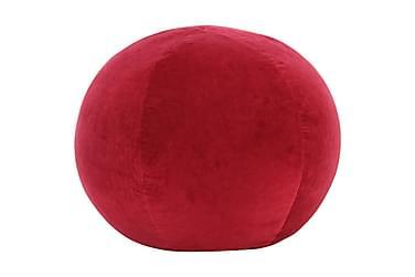 Sittpuff bomullssammet 50x35 cm röd