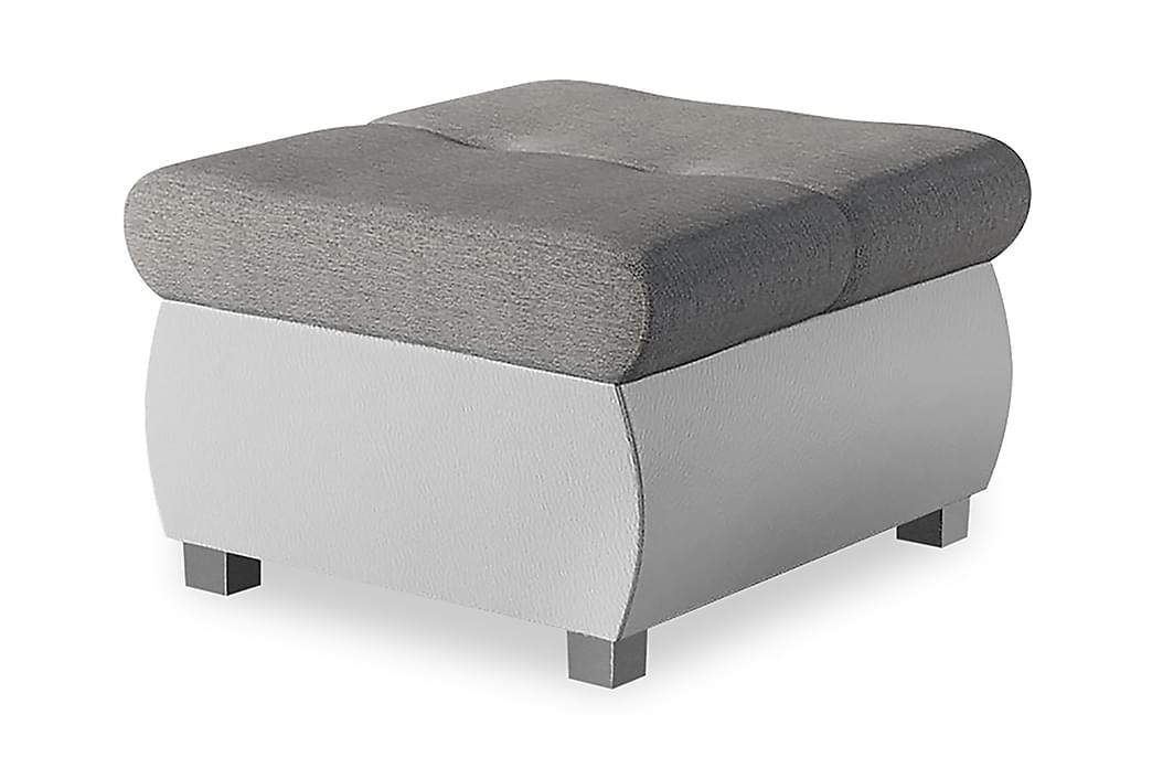 Sittpuff Ianto 60x60x39 cm - Beige/Grå/Vit - Inredning - Småmöbler - Fotpall
