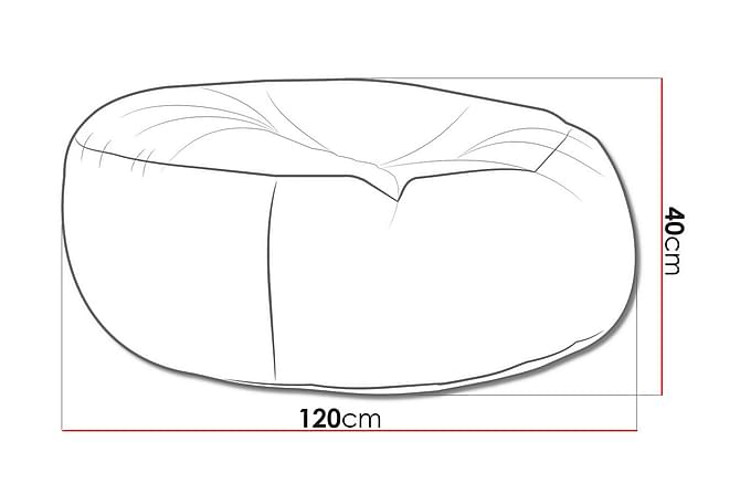 Sittsäck Island 120x120x40 cm - Vit - Möbler - Fåtöljer & fotpallar - Sittsäck & sackosäck