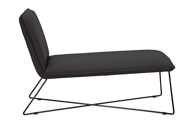 Loungefåtölj Cirino Konstläder - Svart - Möbler - Fåtöljer & fotpallar - Liggfåtölj