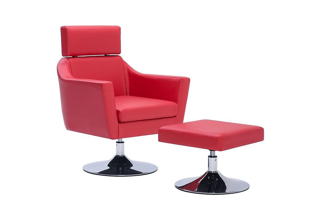 TV-fåtölj röd konstläder - Röd - Möbler - Fåtöljer & fotpallar - Skinnfåtölj & läderfåtölj