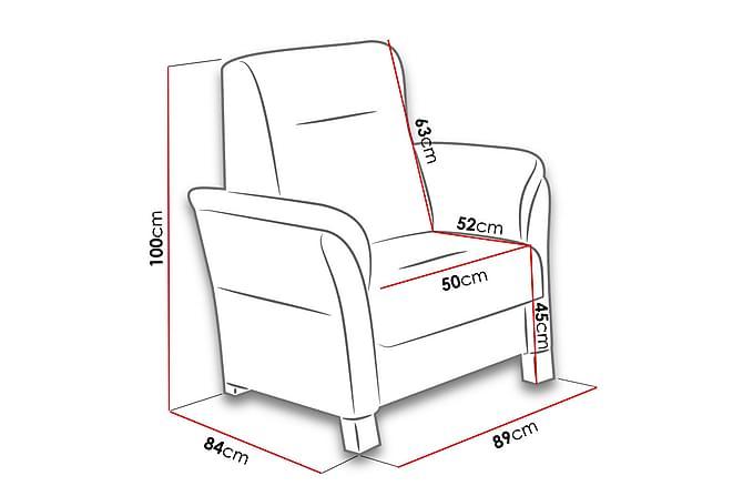 Fåtölj Avanti 89x84x100 cm - Beige|Grå - Möbler - Fåtöljer & fotpallar - Fåtöljer