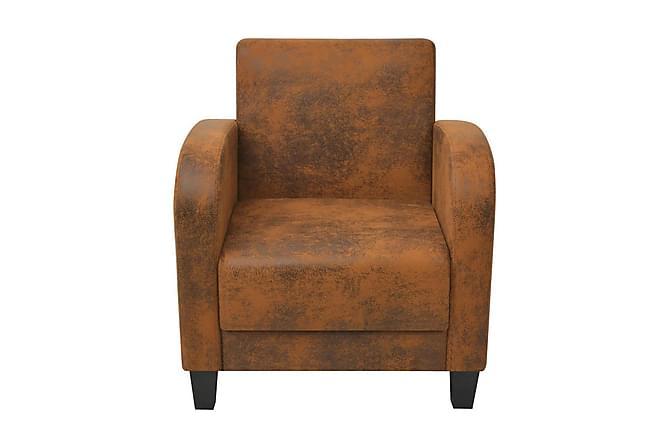 Fåtölj brun 73x72x76 cm - Brun - Möbler - Fåtöljer & fotpallar - Fåtöljer