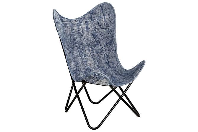 Fladdermusfåtölj indigoblå kanvas - Blå - Möbler - Fåtöljer & fotpallar - Fåtöljer