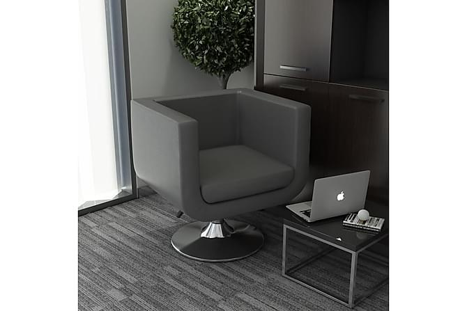 Snurrfåtölj grå konstläder - Grå - Möbler - Fåtöljer & fotpallar - Fåtöljer