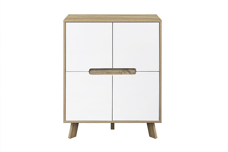 Byrå Hinsel 80x40 cm - Natur/Vit - Möbler - Förvaring - Byrå