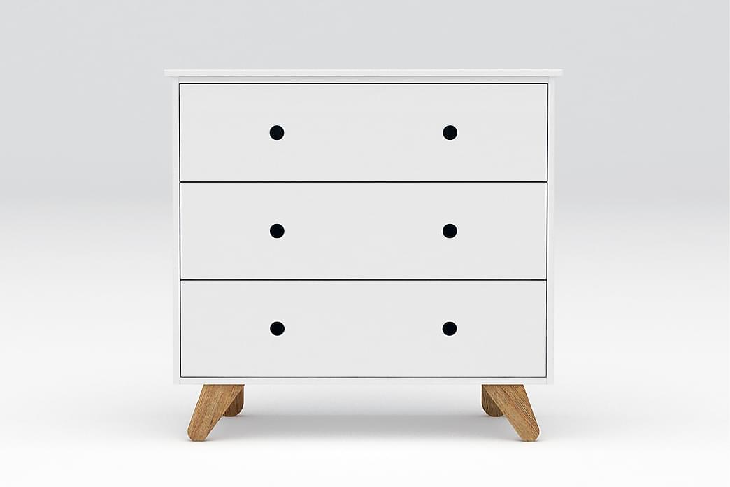 Byrå Hinsel 95x50 cm - Trä/Vit - Möbler - Förvaring - Byrå