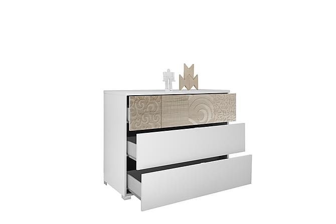 Byrå Xaos 104 cm - Vit/Brun - Möbler - Förvaring - Byrå