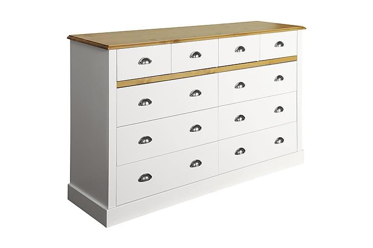 Köpmansdisk Angelo 144 cm - Vit|Natur - Möbler - Förvaring - Byrå