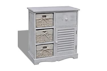 Skåp med 3 lådor vit