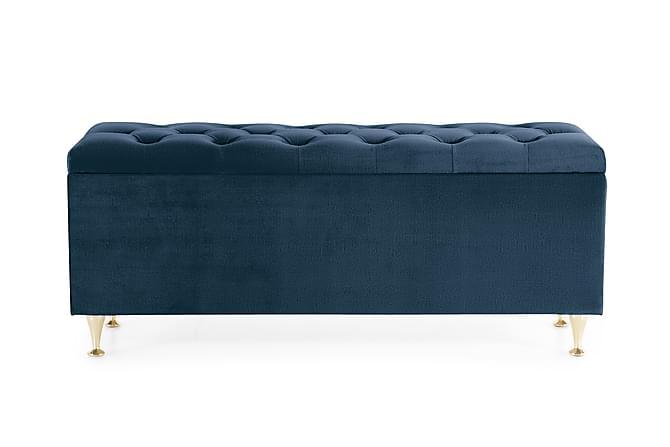 Sängkista Torsö Mörkblå Sammet - Blå - Möbler - Sängar - Sängförvaring