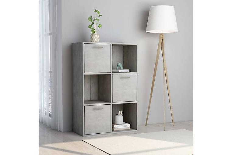 Förvaringsskåp betonggrå 60x29,5x90 cm spånskiva - Grå - Möbler - Förvaring - Förvaringsskåp