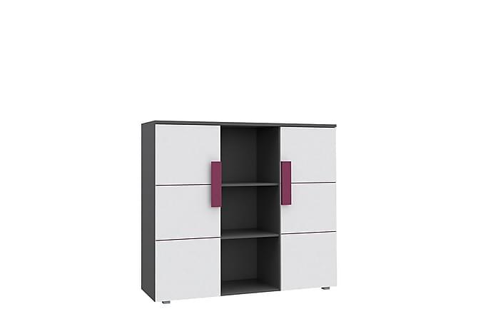 Förvaringsskåp Libelle 135x41x120 cm - Svart|Vit - Möbler - Förvaring - Förvaringsskåp