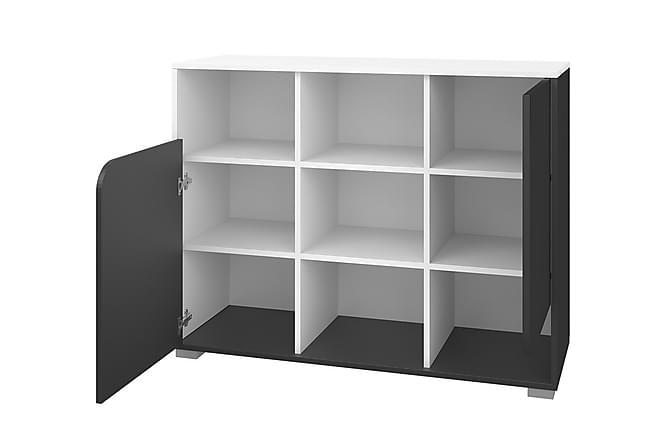 Förvaringsskåp Bruno 110x35x80 cm - Grå|Vit - Möbler - Förvaring - Förvaringsskåp