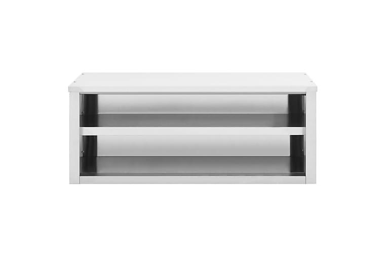 Köksskåp 120x40x50 cm rostfritt stål - Silver - Möbler - Förvaring - Förvaringsskåp