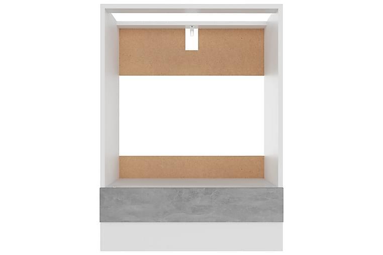 Köksskåp för ugn betonggrå 60x46x81,5 cm spånskiva - Grå - Möbler - Förvaring - Förvaringsskåp