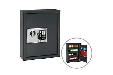Nyckelskåp mörkgrå 30x10x36,5 cm