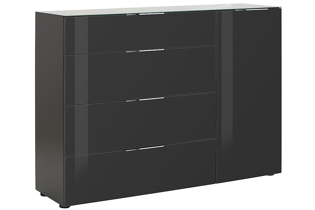 Skänk Monreal 135,3x98,7 cm - Mörkgrå|Mörkgrått Glas - Möbler - Förvaring - Förvaringsskåp