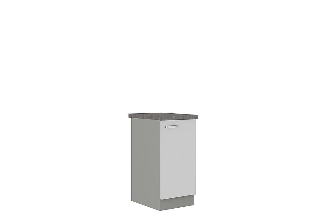 Skåp med dörrar Bianco 40x52x82 cm - Grå/Vit Högglans - Möbler - Förvaring - Förvaringsskåp