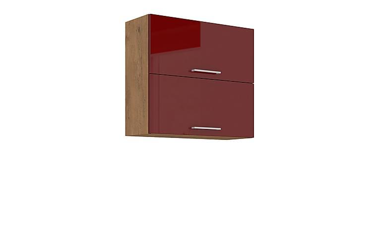 Skåp Wishon 80x31x71,5 cm - Röd - Möbler - Förvaring - Förvaringsskåp