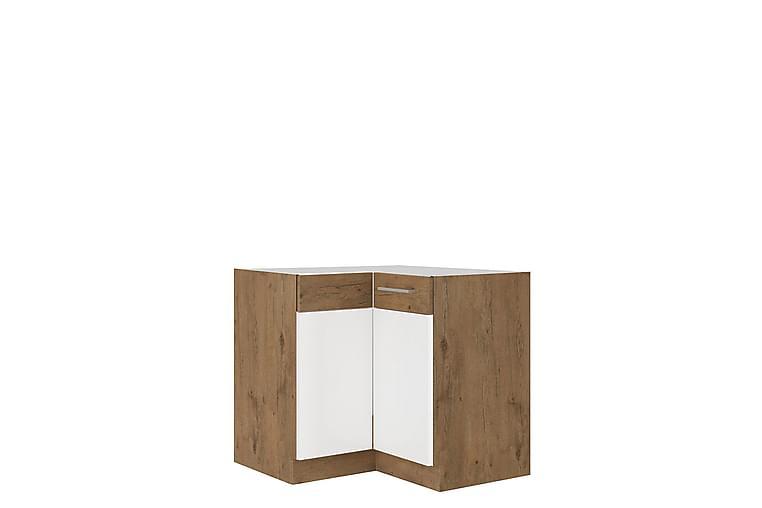Skåp Wishon 83x52x82 cm - Beige/Brun/Vit - Möbler - Förvaring - Förvaringsskåp