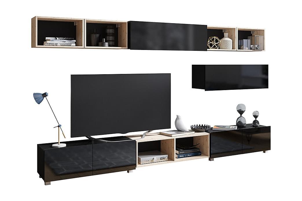 Väggenhet Frick - Svart - Möbler - Förvaring - Förvaringsskåp