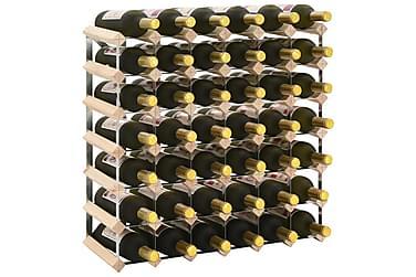 Vinställ för 42 flaskor massiv furu