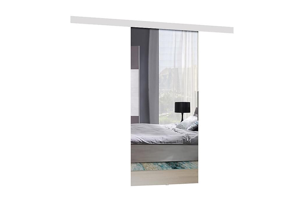 Dörr Alata 204x96x205 cm - Vit/Spegel - Möbler - Förvaring - Garderober & garderobssystem
