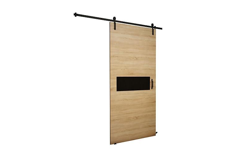 Dörr Cali 200x106x219 cm - Ek/Svart - Möbler - Förvaring - Garderober & garderobssystem