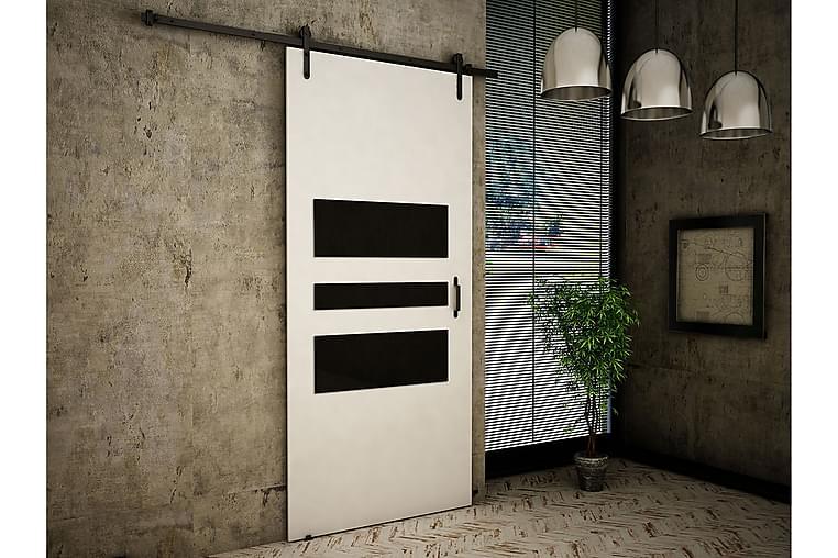 Dörr Cali 200x86x219 cm - Vit/Svart - Möbler - Förvaring - Garderober & garderobssystem