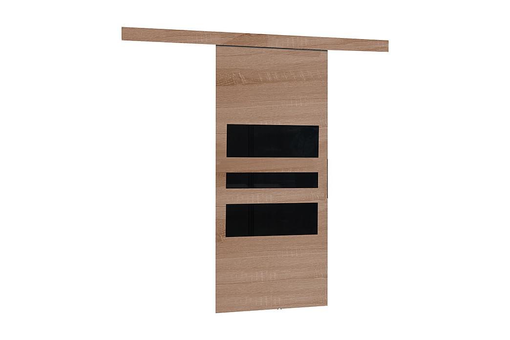 Dörr Malibu 204x86x205 cm - Ek/Svart - Möbler - Förvaring - Garderober & garderobssystem