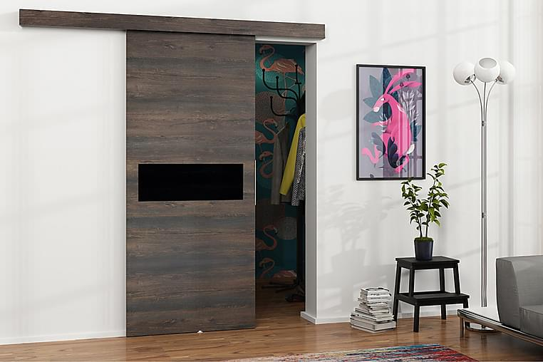 Dörr Malibu 220x106x205 cm - Svart - Möbler - Förvaring - Garderober & garderobssystem