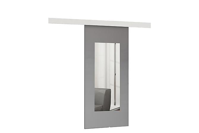 Dörr Malibu 204x86x5 cm - Antracit|Spegel - Möbler - Förvaring - Garderober & garderobssystem