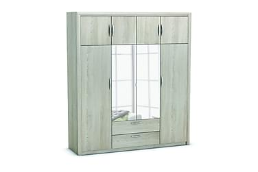 Garderob Atossa 198 cm 4+4 Dörrar Speglar 2 Lådor