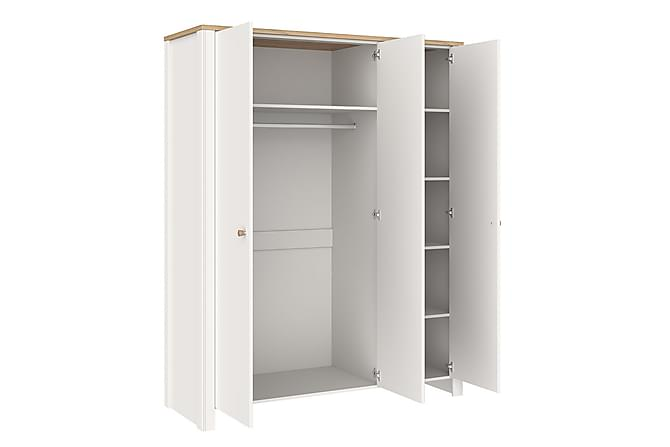 Garderob Berg 155x61x201 cm - Vit - Möbler - Förvaring - Garderober & garderobssystem