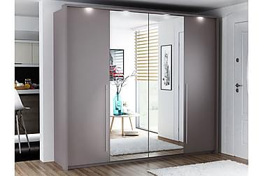 Garderob Brema 255 cm med Vikdörrar